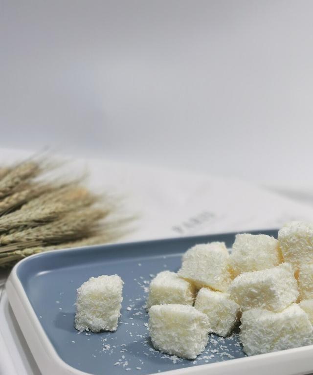 椰蓉牛奶小方,香甜软嫩奶香扑鼻,经济又美味,做法简单的小甜点