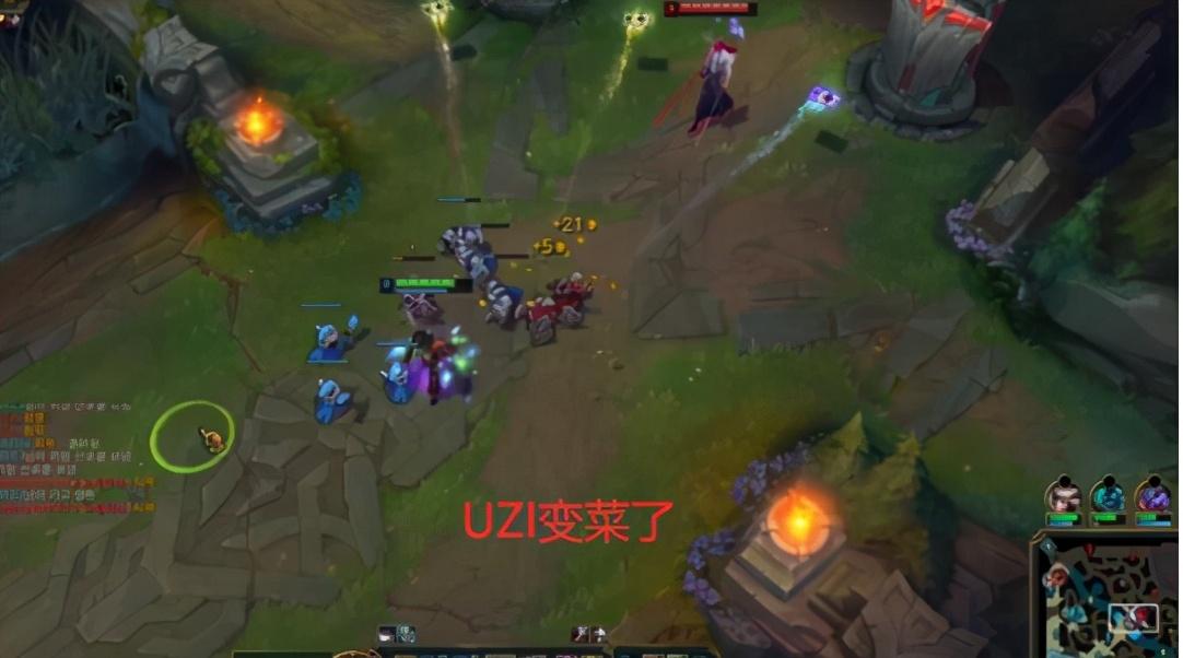 竞技宝UZI被嘲讽 职业选手:乌兹变菜了,只会ping队友