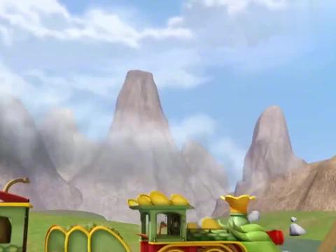 恐龙火车:小恐龙真可爱,连大深海洋是什么都不知道,就要去玩呢