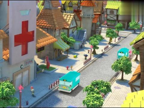 猪猪侠:小呆呆太倒霉了,带着女护士逃跑,转身就碰见反派战士!