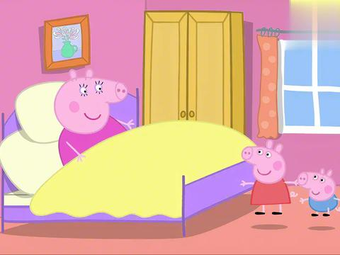 小猪佩奇:猪妈妈过生日,却只插三根蜡烛,结果却还很高兴!