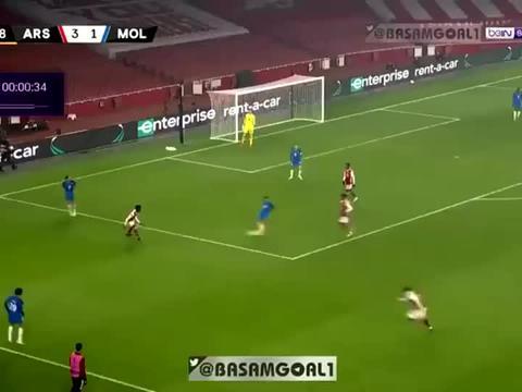 对手送两乌龙,佩佩、威洛克进球,欧联杯阿森纳4-1逆转莫尔德!