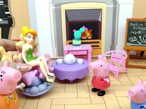 佩奇乔治都想吃棒棒糖,可猪妈妈没有棒棒糖,只能请花仙子帮忙了
