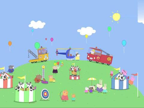 小猪佩奇:佩奇最喜欢直升机,胆子真是大呢,还要坐上去玩玩!