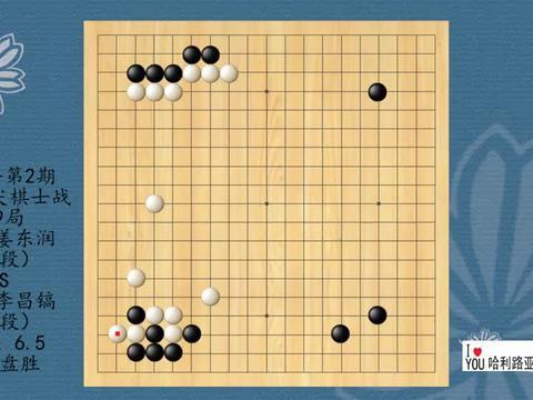 2021年第2期韩国顶尖棋士战第9局,姜东润VS李昌镐,黑中盘胜
