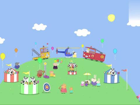小猪佩奇:佩奇正体验直升机,却遇上了紧急救援,真是太幸运了