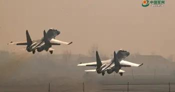 空军航空兵某团组织多课目飞行训练