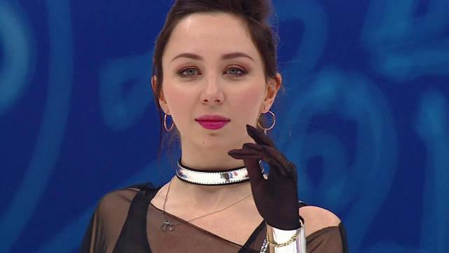 Elizaveta Tuktamysheva的短节目获得77.74分的分数!