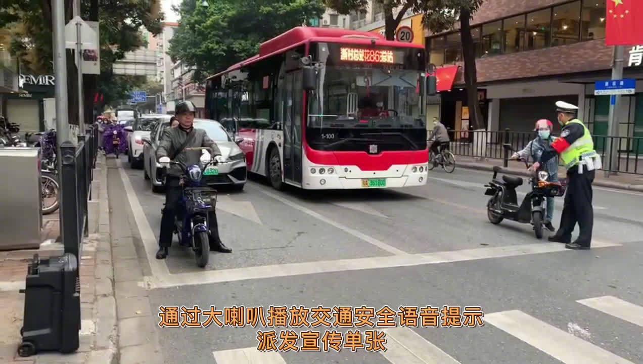 近日,@广州花都公安 交警蜀黍深入推进交通安全宣传……