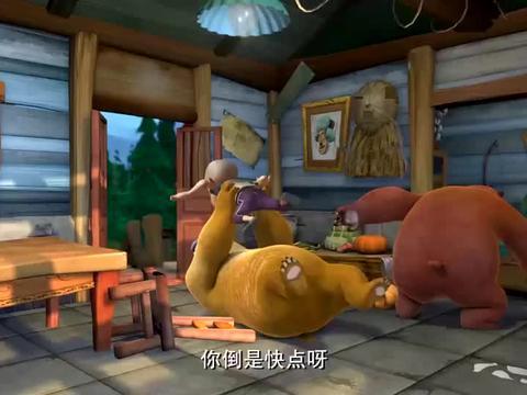 熊出没:李老板告诉光头强要给他放假,终于可以睡个好觉了