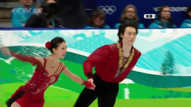 冬奥会花样滑冰,庞清佟健的自由滑《追梦无悔》!
