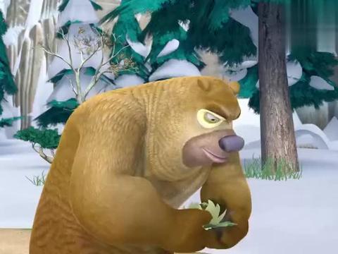 熊出没:光头强真是太机智了,用蜂蜜换了雪莲,这次赚大发了!