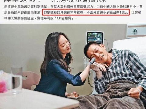 刘德华片酬不及王宝强贾玲一半背后,是一部港片败退史