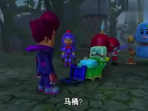 猪猪侠:管家被改造马桶,放在水晶城繁荣公厕,摆明的是在威胁!