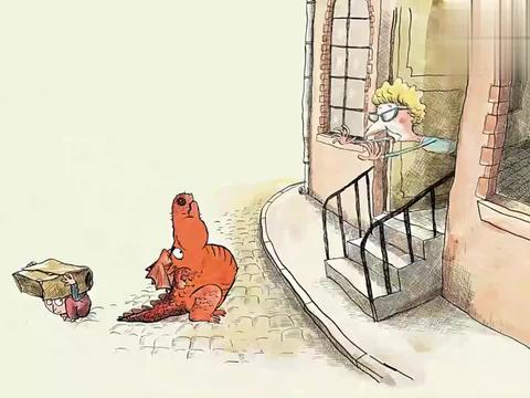 树屋童话:可爱的小龙打破规矩,与人类成朋友,还一起吃烤鱼呢!