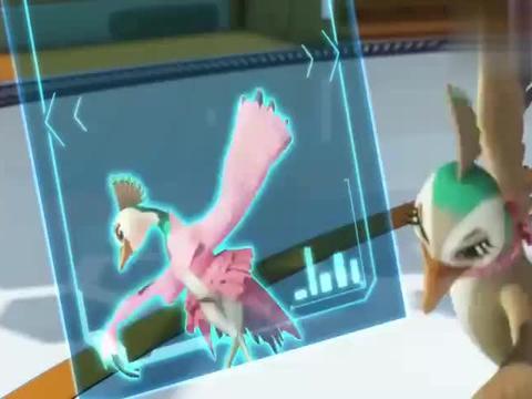 宇宙护卫队:彩虹和小美试衣,选中一身分羽毛,真是臭美啊