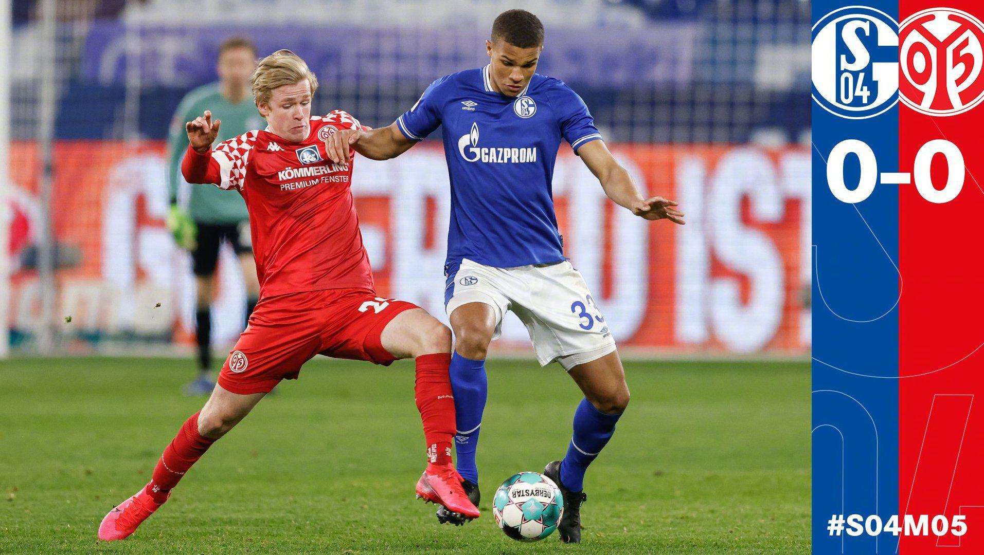 德甲第24轮的一场保级大战中,沙尔克主场0-0战平美因茨……