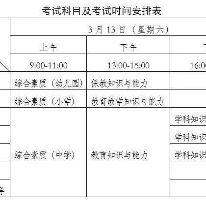 广西中小学教师资格考试笔试3月13日开考