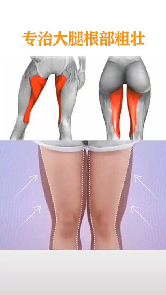 三个动作专治大腿根部粗壮,坚持练习美腿精就是你……