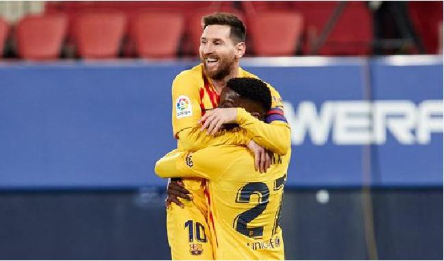 梅西助攻双响 巴萨2-0近11轮取10胜