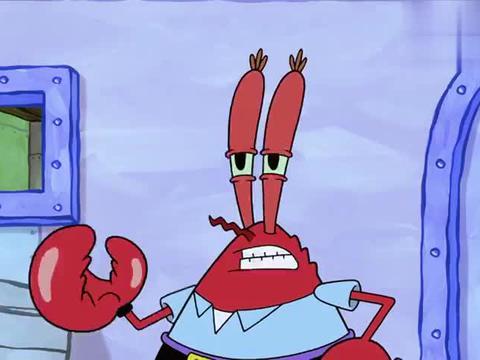 章鱼哥变得像小宝宝,蟹老板还要让他去工作,残忍的老板