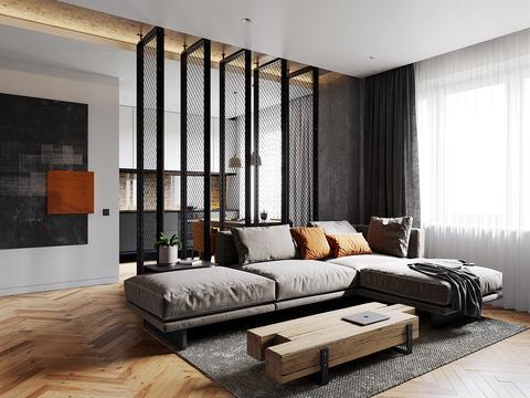 混凝土与橙色的视觉冲击,个性的工业风设计!