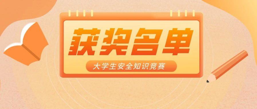 江苏省第九届大学生安全知识竞赛获奖名单公布