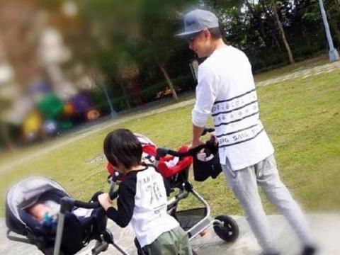 林志颖晒五年前的亲子照,是怀念过去