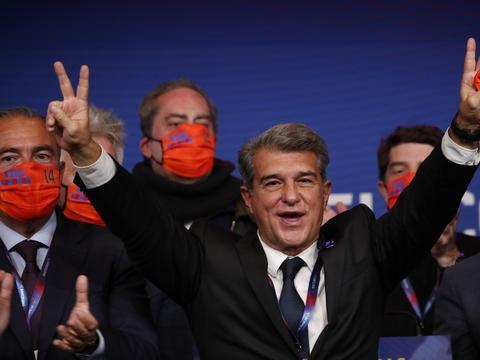 记者:拉波尔塔将随巴萨全队前往巴黎客场
