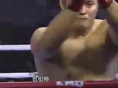 MMA综合格斗比赛,大力士8秒KO,对手鼻梁骨折