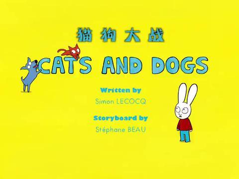 超人兔:西蒙哥俩在逗猫,猫咪开心坏了,扑来扑去