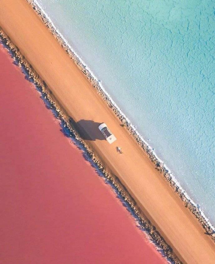 澳 南部的麦克唐纳尔湖(Lake MacDonnell)……