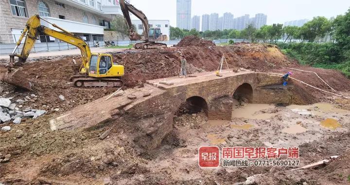 钦州一古桥被埋16年后重见天日,刘永福冯子材曾捐款重修