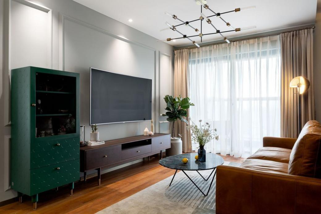 复古风家居,墨绿+金属色韵味十足,优雅还艺术