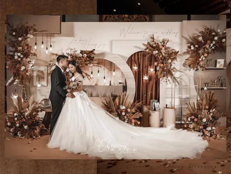 温馨又有格调的焦糖色系复古风婚礼,我们还有很长的故事要去写