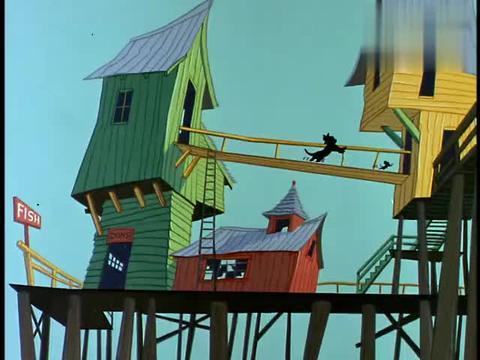 猫和老鼠:鲨鱼差点吃掉汤姆,杰瑞用胡椒粉赶走鲨鱼,汤姆得救了