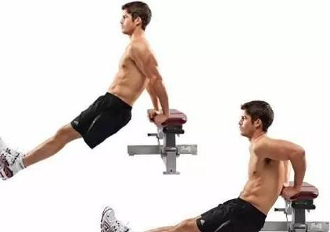 利用一张凳子完成上半身训练,利用一张瑜伽垫完成腹部训练