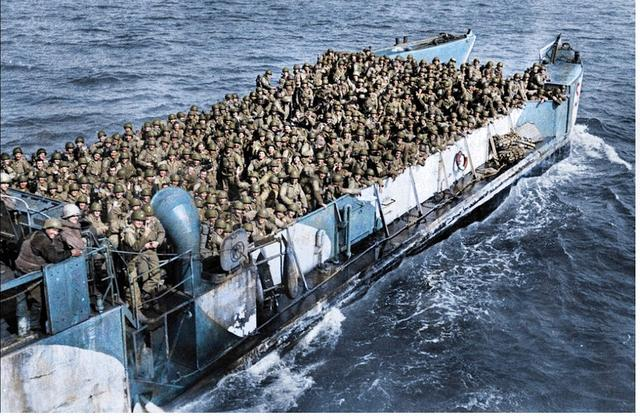 """二战时盟军的抢滩登陆战""""诺曼底战役"""",规模到底有多大"""