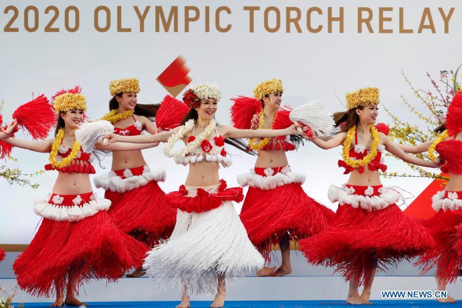 Members of the Spa Resort Hawaiians Dancing Team