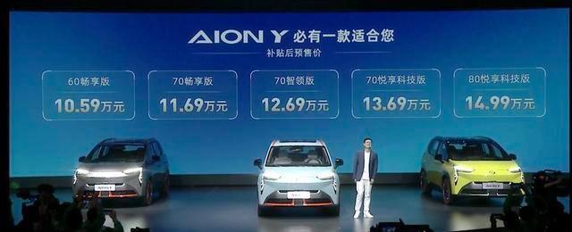 广汽新能源AION Y预售10.59万起 定位紧凑型电动SUV,或4月上市!