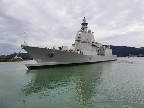 地中海霸主:意大利海军的PPA巡逻舰,舰首造型非常具有辨识度