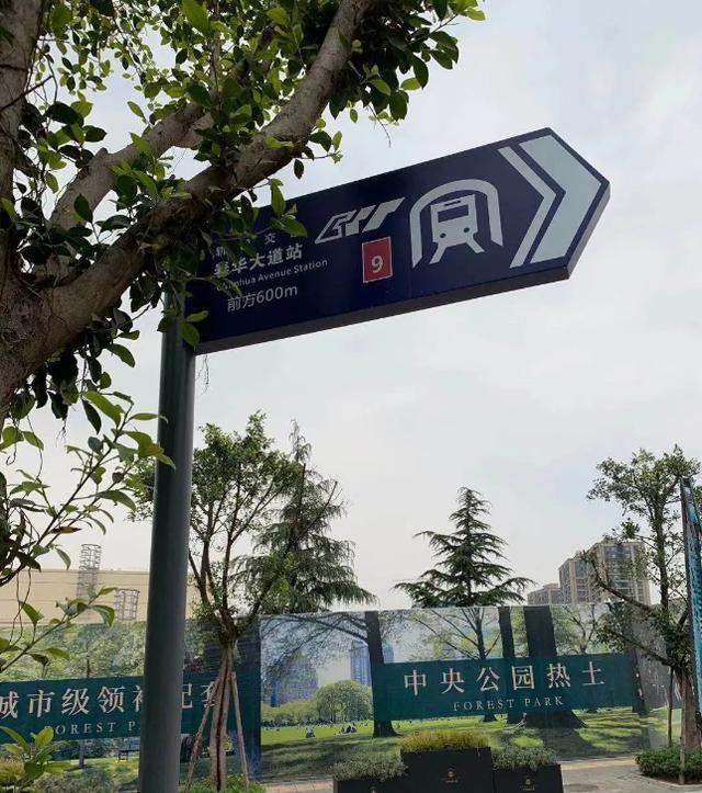 重庆楼市火热的中央公园,惊现山寨地铁标志牌,开发商也太拼了?
