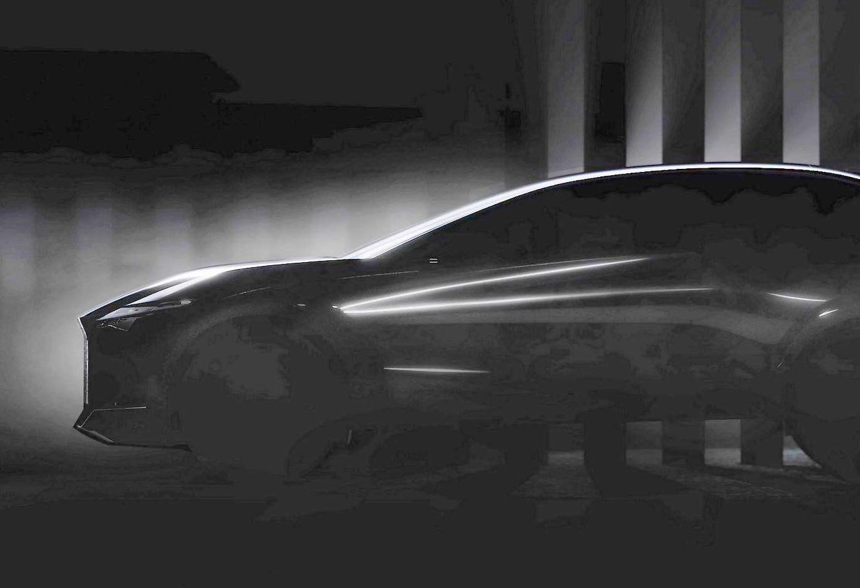 雷克萨斯发布纯电动新车预告 双电机结构 内装矩形方向盘