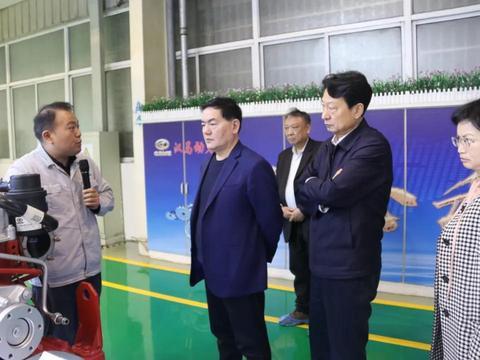 安徽省政协副主席李和平一行到汉马科技集团调研