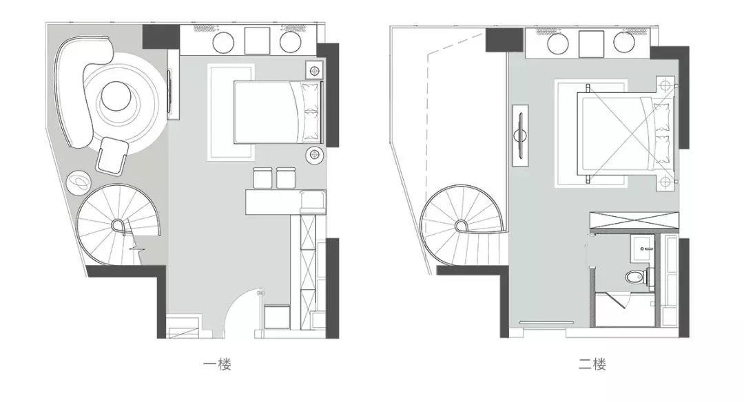 83平做出别墅大空间感,落地窗打造顶级江景