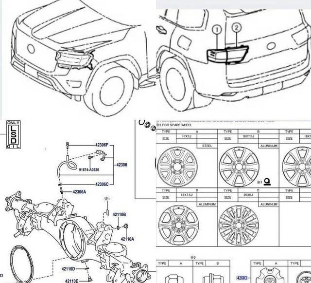 丰田全新兰德酷路泽专利图曝光 或8月海外首发/将推GR高性能版本