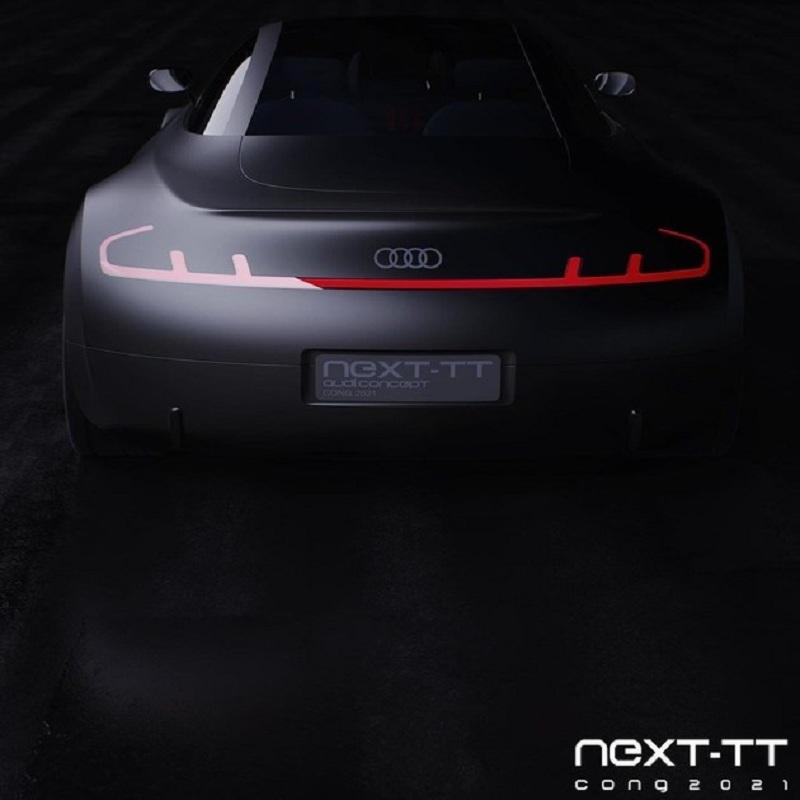未来设计感极强 奥迪e-tron TT的假想图