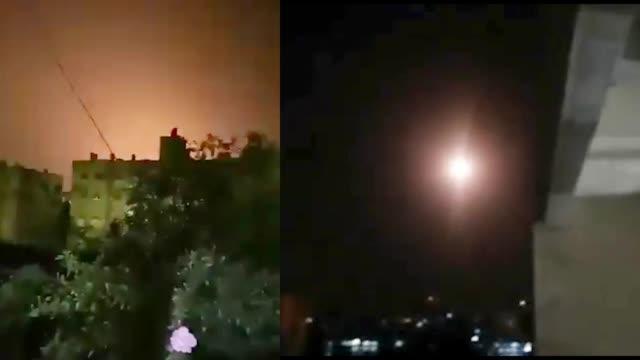 以色列空袭叙利亚大马士革  叙防空系统展开拦截 现场画面曝光