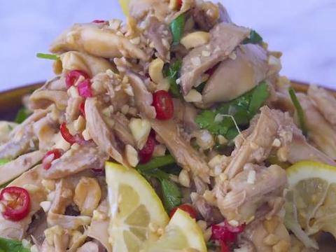 孩子爱吃的手撕柠檬鸡,鲜酸微辣,营养解馋,美味的育儿家常菜