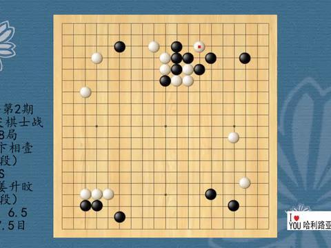 2021年第2期韩国顶尖棋士战第18局,卞相壹VS姜升旼,黑胜7.5目